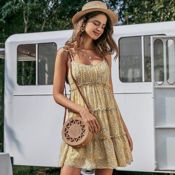 Little Leopard Printed Dress Hippie Spirit