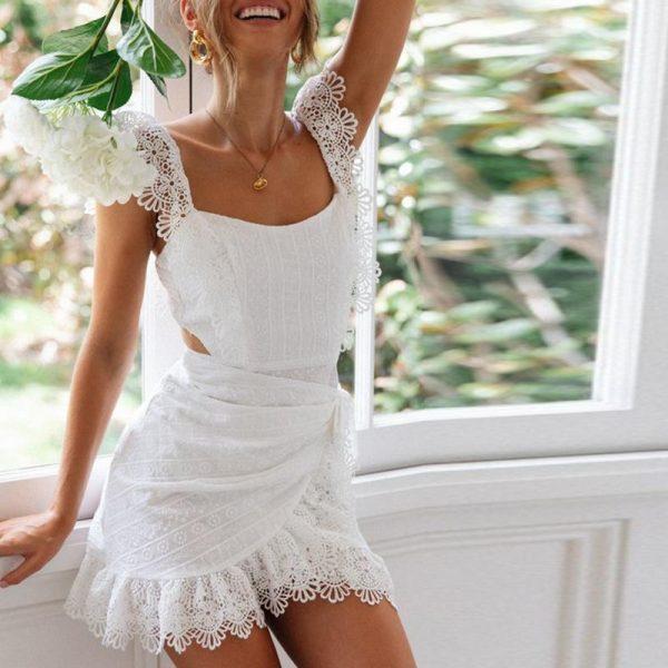 Bohemian Wedding Dress Short