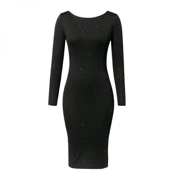 Elegant Black Hippie Dress