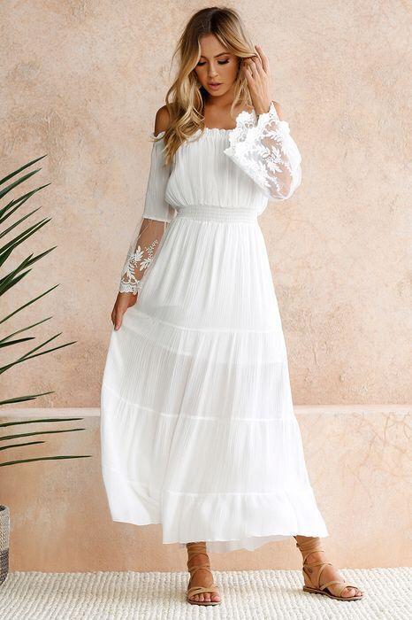 Simple Bohemian Wedding Dress