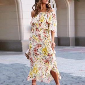 Hippie chic floral dress