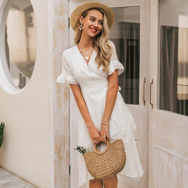 Esprit Bohemian Chic White Dress