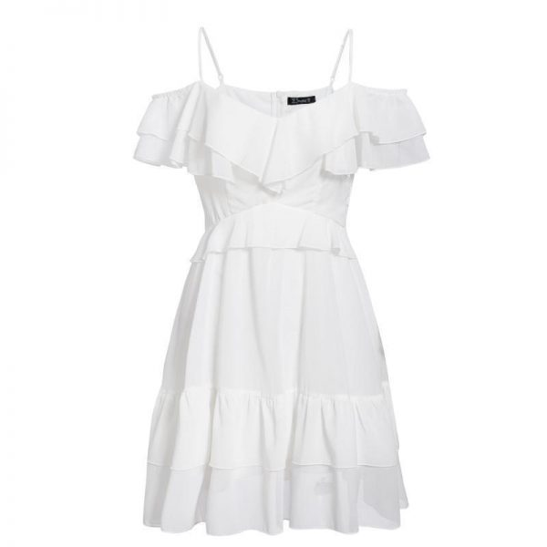 Esprit Bohemian White Short Dress