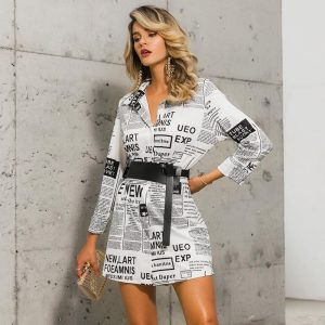 Elegant Bohemian Shirt Dress