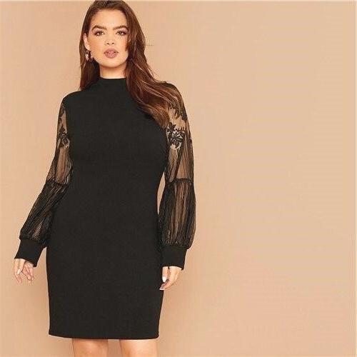 Dress boheme lace large size