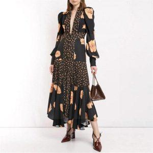Dress black bohemian style
