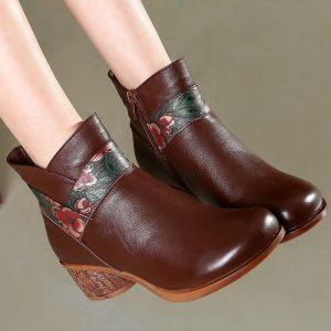 Retro Bohemian Leather Boots