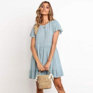 Bohemian straight dress