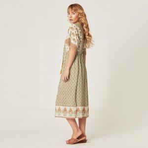 Dress boheme mid-length winter