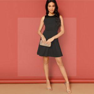 Bohemian dress black short