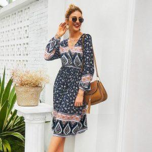 Hippie chic cotton dress