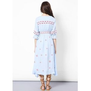 Bohemian chic cotton maxi dress