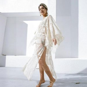Long dress boheme chic lace