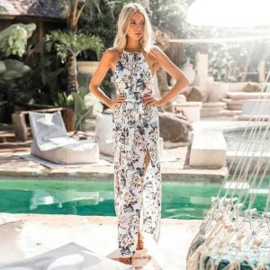Bohemian chic floral maxi dress