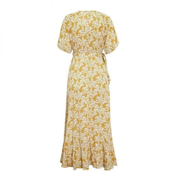Bohemian long dress ivory