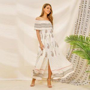 Hippie chic summer maxi dress